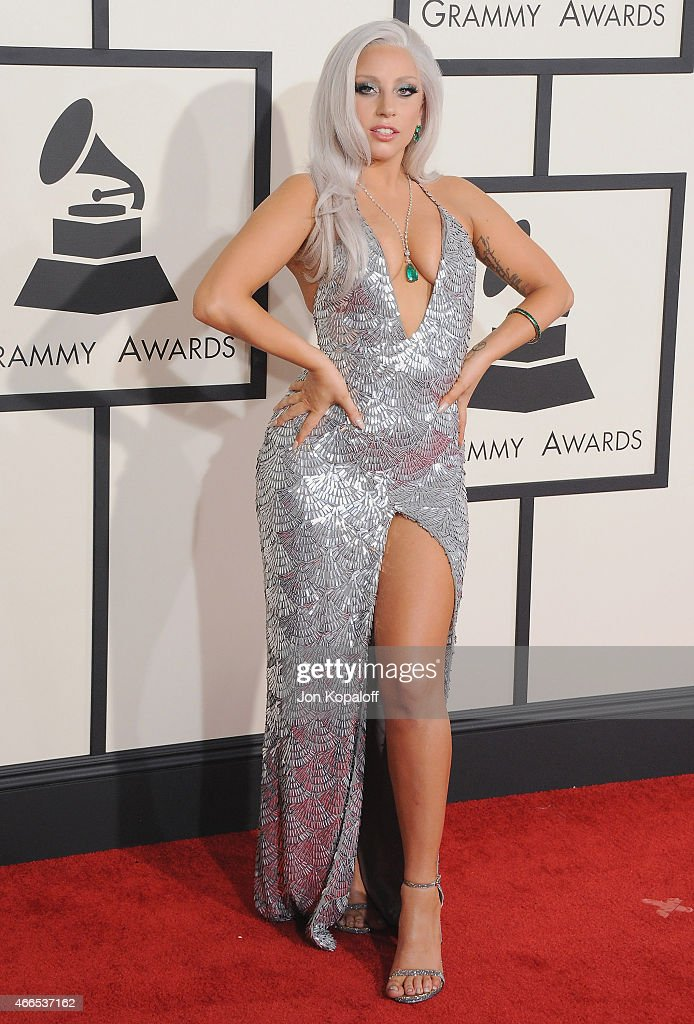 Singer Lady Gaga arrives at the 57th GRAMMY Awards at Staples Center on February 8 2015 in Los Angeles California