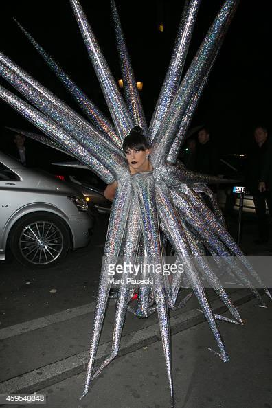 Singer Lady Gaga arrives at the 'VIP ROOM' Club on November 25 2014 in Paris France