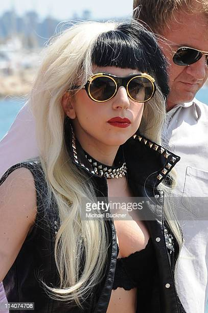 Singer Lady Gaga at the Canal Studios during the 64th Annual Cannes Film Festival on May 11 2011 in Cannes France