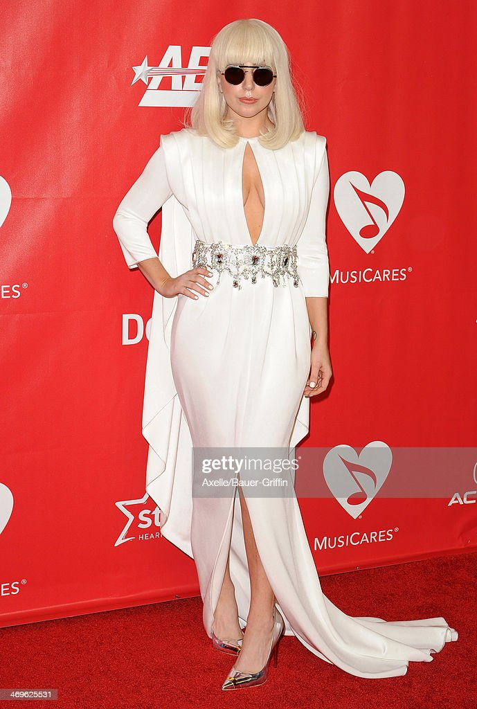 Singer <a gi-track='captionPersonalityLinkClicked' href=/galleries/search?phrase=Lady+Gaga&family=editorial&specificpeople=4456754 ng-click='$event.stopPropagation()'>Lady Gaga</a> attends the 2014 MusiCares Person Of The Year honoring Carole King at Los Angeles Convention Center on January 24, 2014 in Los Angeles, California.