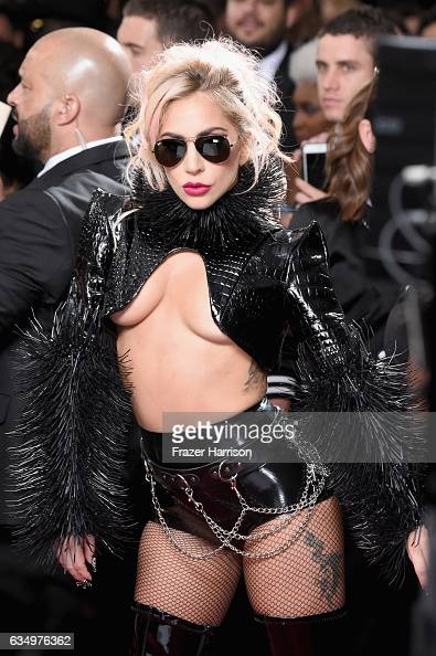 Singer Lady Gaga attends The 59th GRAMMY Awards at STAPLES Center on February 12 2017 in Los Angeles California