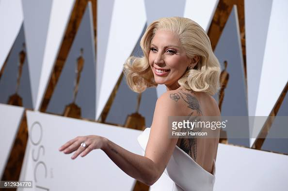 Singer Lady Gaga attends the 88th Annual Academy Awards at Hollywood Highland Center on February 28 2016 in Hollywood California