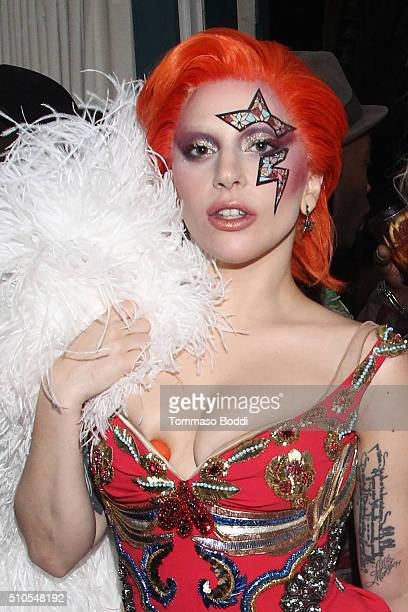 Singer Lady Gaga attends the Absolut Elyx Hosts Mark Ronson's Grammy's Afterparty at Elyx House Los Angeles on February 15 2016 in Los Angeles...