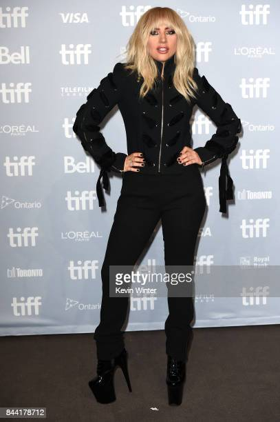 Singer Lady Gaga attends the 'Lady Gaga Five Foot Two' press conference during 2017 Toronto International Film Festival at TIFF Bell Lightbox on...
