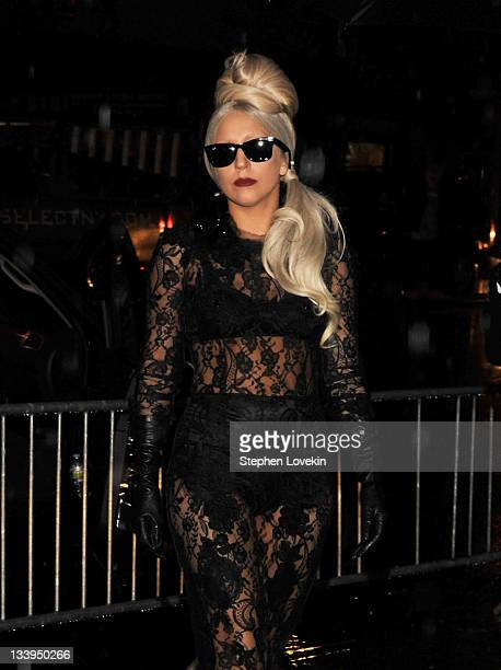 Singer Lady Gaga attends the 'Lady Gaga x Terry Richardson' book launch party at The New Museum on November 22 2011 in New York City