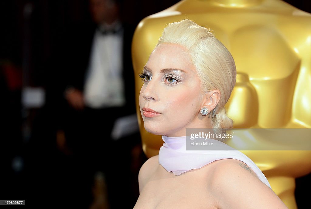 Singer Lady Gaga attends the Oscars held at Hollywood & Highland Center on March 2, 2014 in Hollywood, California.