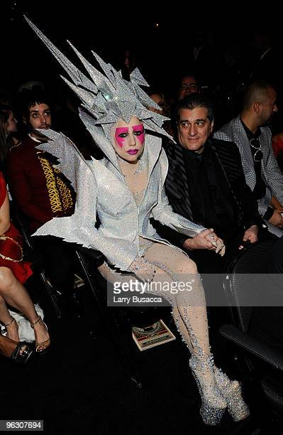 Singer Lady Gaga backstage during the 52nd Annual GRAMMY Awards held at Staples Center on January 31 2010 in Los Angeles California