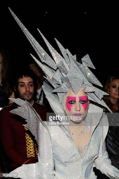 Singer Lady Gaga in the audience during the 52nd Annual GRAMMY Awards held at Staples Center on January 31 2010 in Los Angeles California