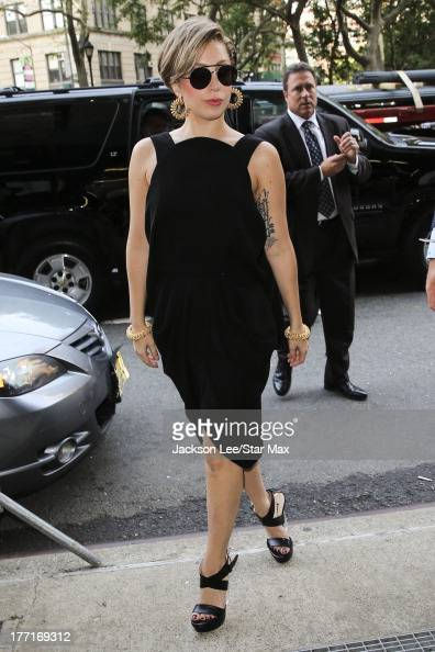Singer Lady Gaga is seen on August 19 2013 in New York City
