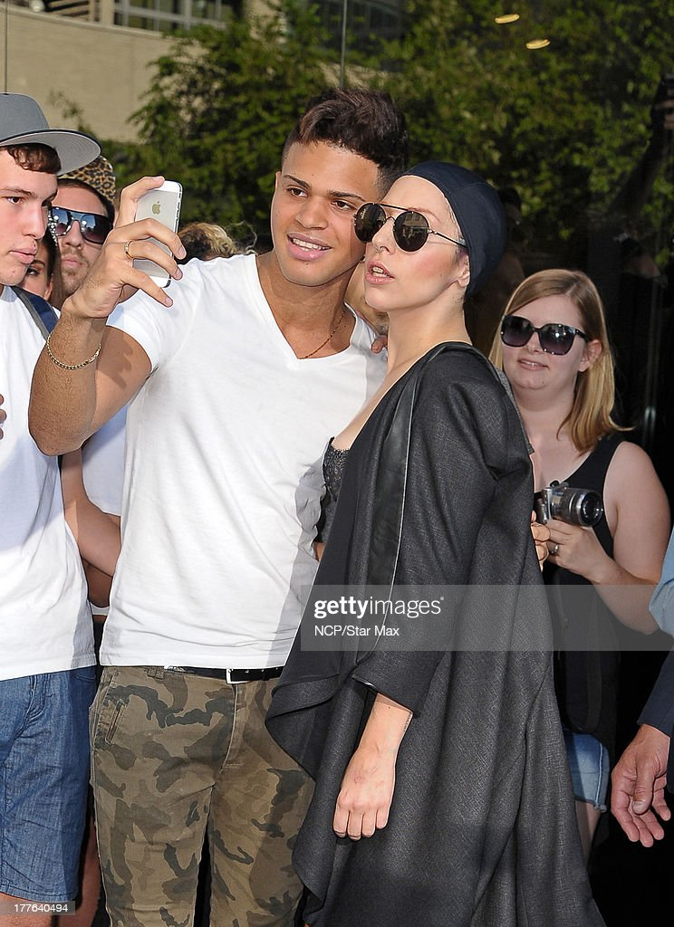 Singer <a gi-track='captionPersonalityLinkClicked' href=/galleries/search?phrase=Lady+Gaga&family=editorial&specificpeople=4456754 ng-click='$event.stopPropagation()'>Lady Gaga</a> is seen on August 24, 2013 in New York City.