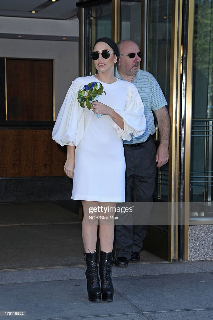 Singer <a gi-track='captionPersonalityLinkClicked' href=/galleries/search?phrase=Lady+Gaga&family=editorial&specificpeople=4456754 ng-click='$event.stopPropagation()'>Lady Gaga</a> is seen on August 25, 2013 in New York City.