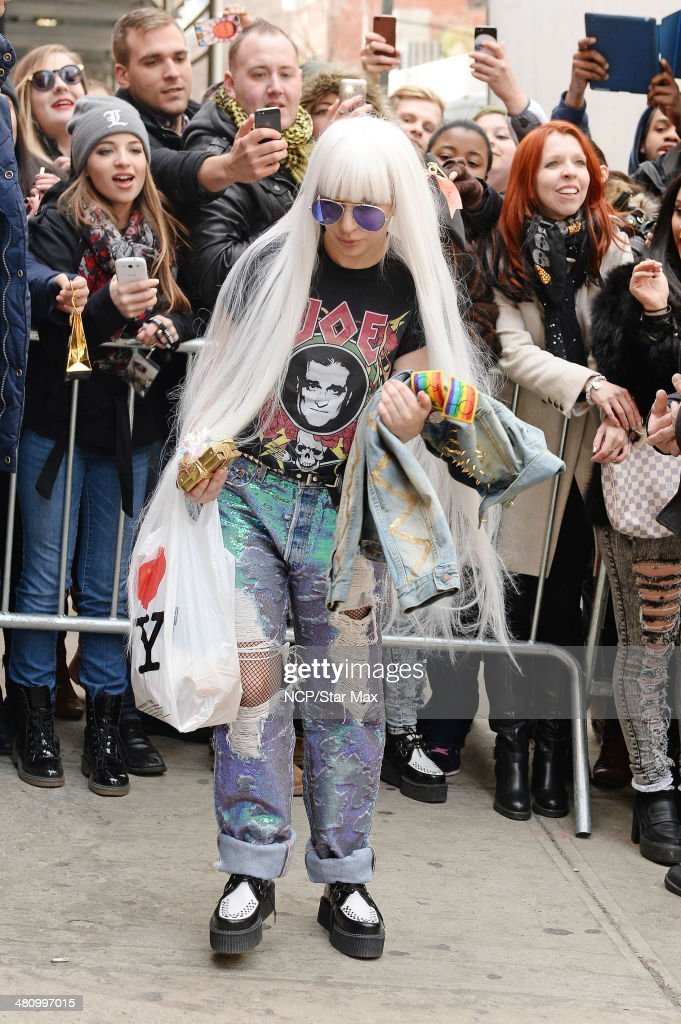 Singer <a gi-track='captionPersonalityLinkClicked' href=/galleries/search?phrase=Lady+Gaga&family=editorial&specificpeople=4456754 ng-click='$event.stopPropagation()'>Lady Gaga</a> is seen on March 27, 2014 in New York City.