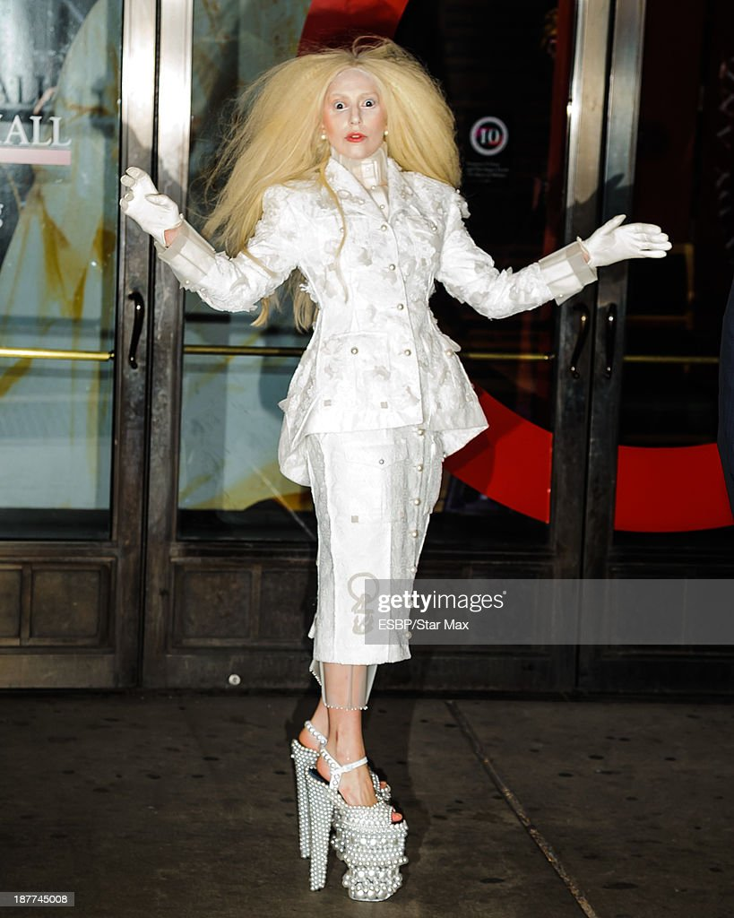 Singer <a gi-track='captionPersonalityLinkClicked' href=/galleries/search?phrase=Lady+Gaga&family=editorial&specificpeople=4456754 ng-click='$event.stopPropagation()'>Lady Gaga</a> is seen on November 11, 2013 in New York City.