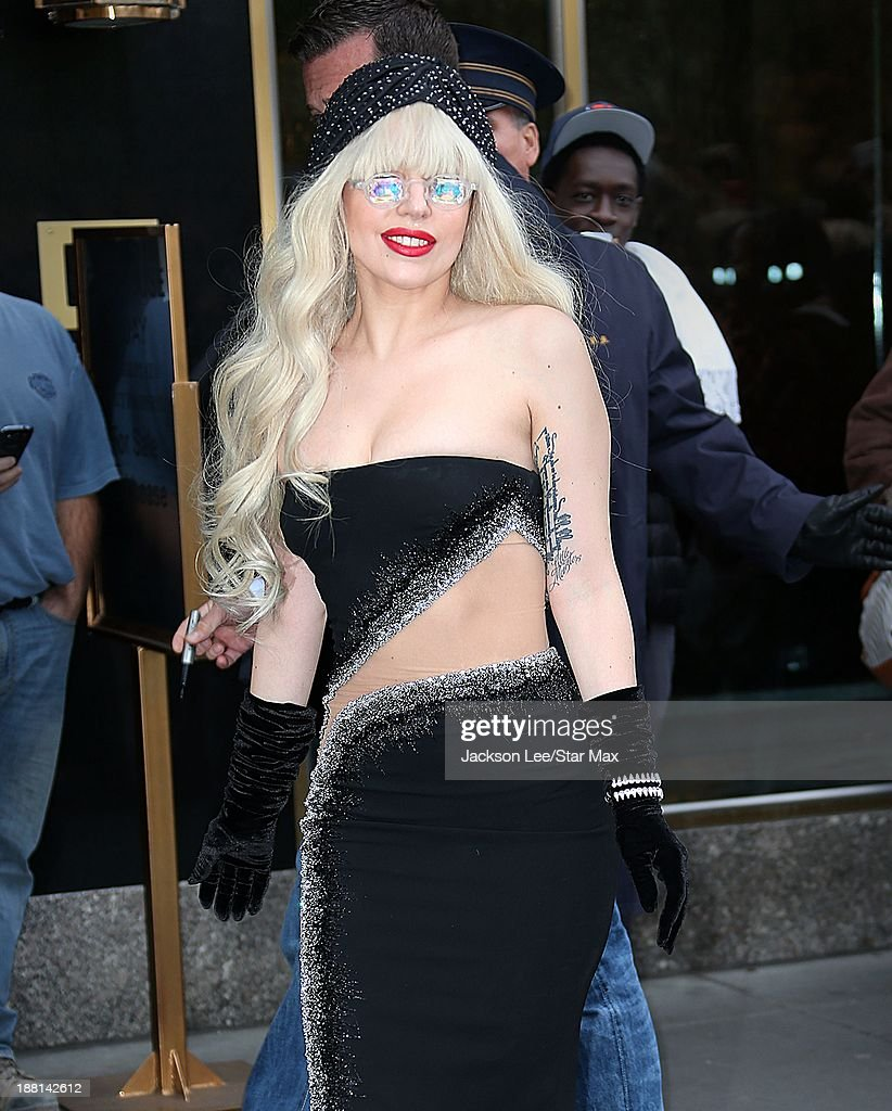 Singer <a gi-track='captionPersonalityLinkClicked' href=/galleries/search?phrase=Lady+Gaga&family=editorial&specificpeople=4456754 ng-click='$event.stopPropagation()'>Lady Gaga</a> is seen on November 15, 2013 in New York City.