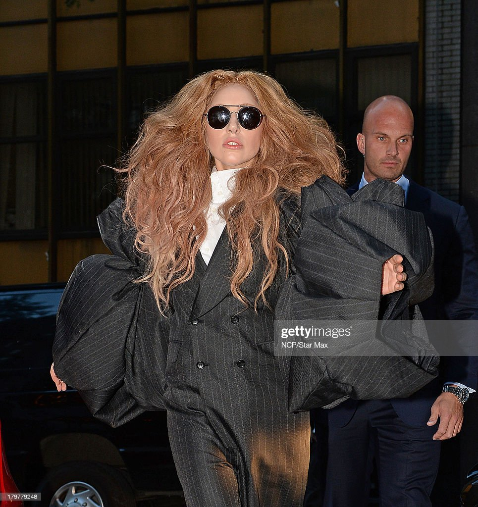 Singer <a gi-track='captionPersonalityLinkClicked' href=/galleries/search?phrase=Lady+Gaga&family=editorial&specificpeople=4456754 ng-click='$event.stopPropagation()'>Lady Gaga</a> is seen on September 6, 2013 in New York City.