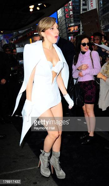 Singer Lady Gaga is seen outside 'Good morning America' on August 19 2013 in New York City