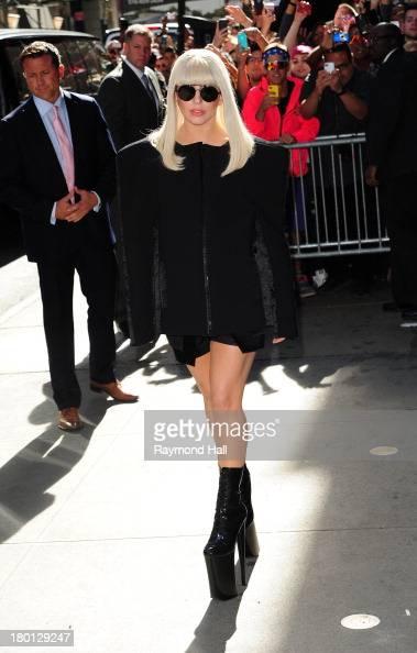 Singer Lady Gaga is seen outside 'Good Morning America' on September 9 2013 in New York City