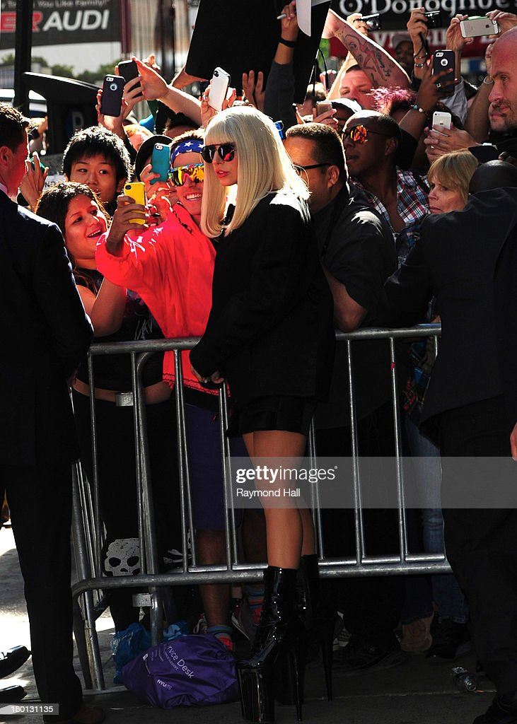 Singer Lady Gaga is seen outside 'Good Morning America' on September 9, 2013 in New York City.