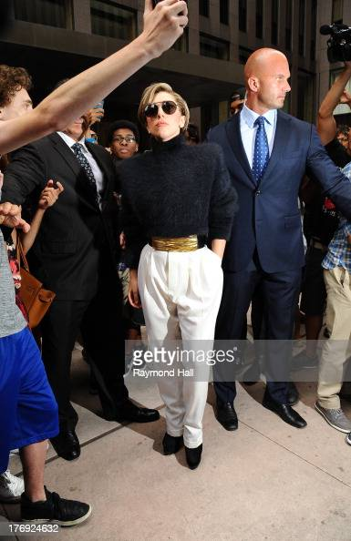 Singer Lady Gaga is seen outside 'Sirius Radio' on August 19 2013 in New York City