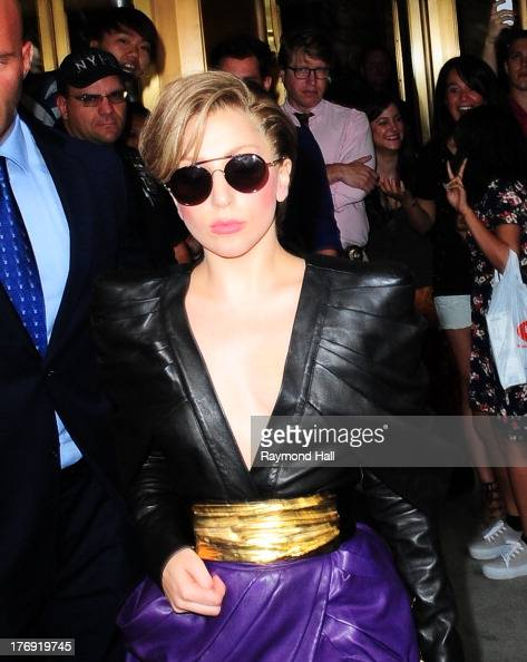 Singer Lady Gaga is seen outside 'Z100'on August 19 2013 in New York City