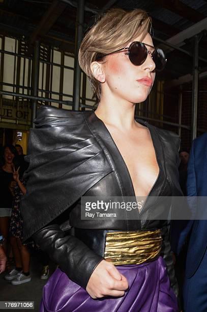Singer Lady Gaga leaves the Z100 Studios on August 19 2013 in New York City
