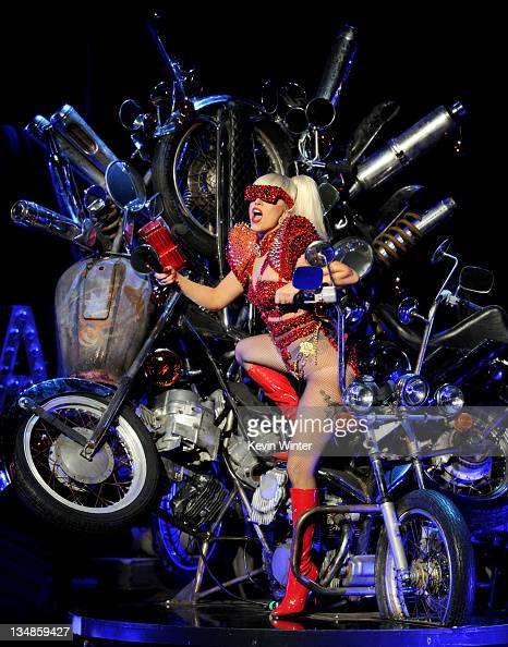 Singer Lady Gaga performs at KIIS FM's Jingle Ball at LA Live's Nokia Theatre on December 3 2011 in Los Angeles California