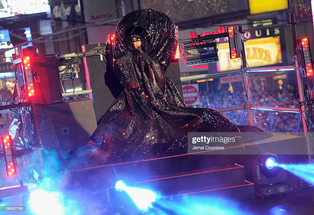 Singer Lady Gaga performs at New Year's Eve 2012 in Times Square on December 31, 2011 in New York City.
