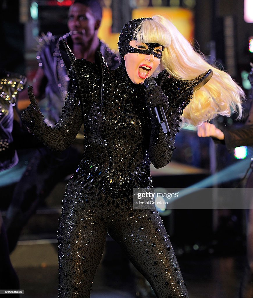 Singer <a gi-track='captionPersonalityLinkClicked' href=/galleries/search?phrase=Lady+Gaga&family=editorial&specificpeople=4456754 ng-click='$event.stopPropagation()'>Lady Gaga</a> performs at New Year's Eve 2012 in Times Square on December 31, 2011 in New York City.