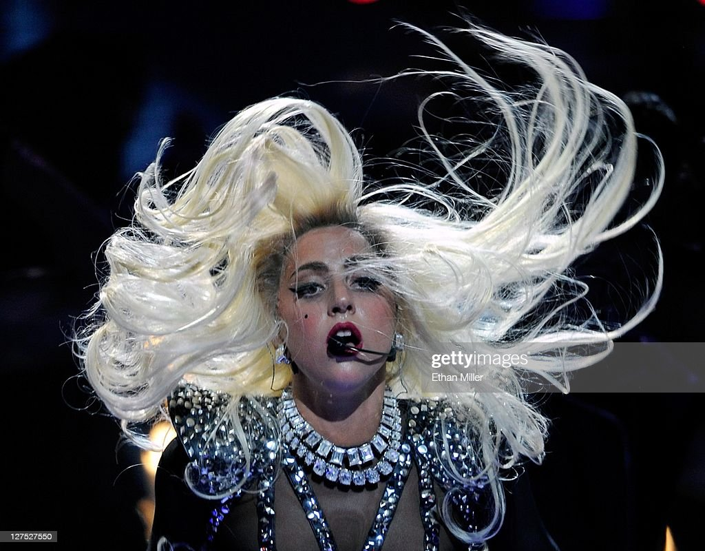 Singer Lady Gaga performs at the iHeartRadio Music Festival at the MGM Grand Garden Arena September 24, 2011 in Las Vegas, Nevada.
