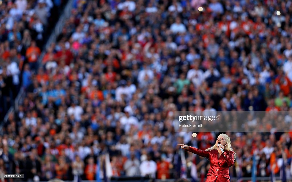 Singer <a gi-track='captionPersonalityLinkClicked' href=/galleries/search?phrase=Lady+Gaga&family=editorial&specificpeople=4456754 ng-click='$event.stopPropagation()'>Lady Gaga</a> performs during Super Bowl 50 between the Denver Broncos and the Carolina Panthers at Levi's Stadium on February 7, 2016 in Santa Clara, California.