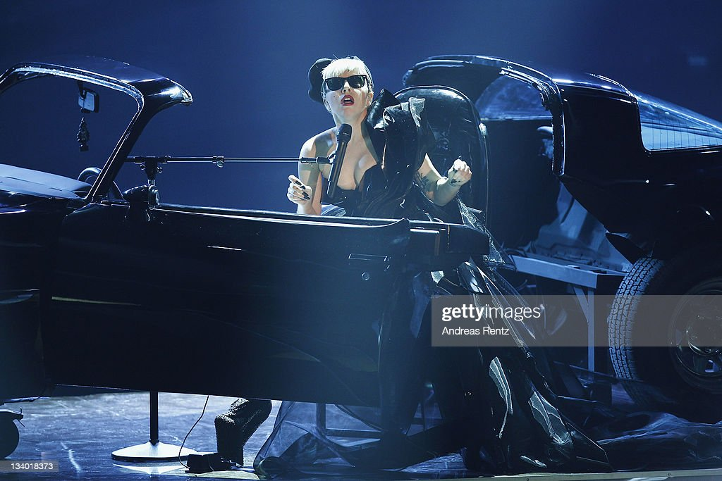 Singer <a gi-track='captionPersonalityLinkClicked' href=/galleries/search?phrase=Lady+Gaga&family=editorial&specificpeople=4456754 ng-click='$event.stopPropagation()'>Lady Gaga</a> performs during the Bambi Award 2011 show at the Rhein-Main-Hallen on November 10, 2011 in Wiesbaden, Germany.