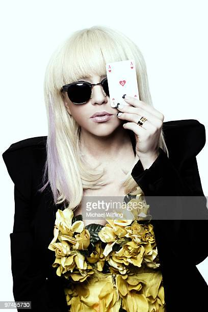 Singer Lady Gaga poses for a portrait shoot in Munich on February 20 2009