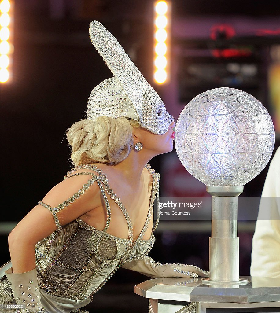Singer <a gi-track='captionPersonalityLinkClicked' href=/galleries/search?phrase=Lady+Gaga&family=editorial&specificpeople=4456754 ng-click='$event.stopPropagation()'>Lady Gaga</a> prepares to push the button to drop the ball at New Year's Eve 2012 in Times Square on December 31, 2011 in New York City.