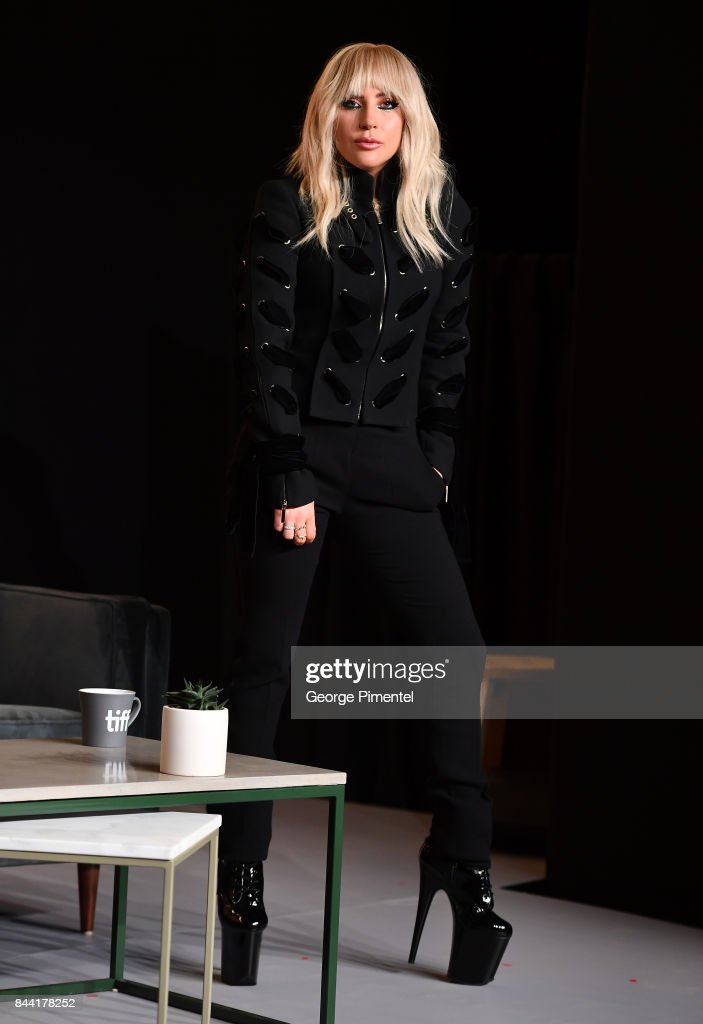 Singer Lady Gaga speaks onstage at the 'Lady Gaga: Five Foot Two' press conference during 2017 Toronto International Film Festival at TIFF Bell Lightbox on September 8, 2017 in Toronto, Canada.