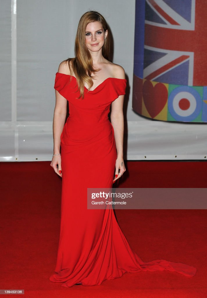Singer Lana Del Ray attends The BRIT Awards 2012 at the O2 Arena on February 21, 2012 in London, England.