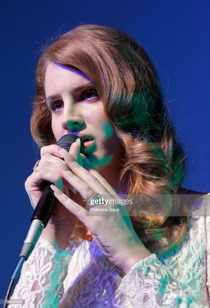 Singer Lana Del Ray performs at The 54th Annual GRAMMY Awards P&E Wing Event at The Village Recording Studios on February 8, 2012 in Los Angeles, California.