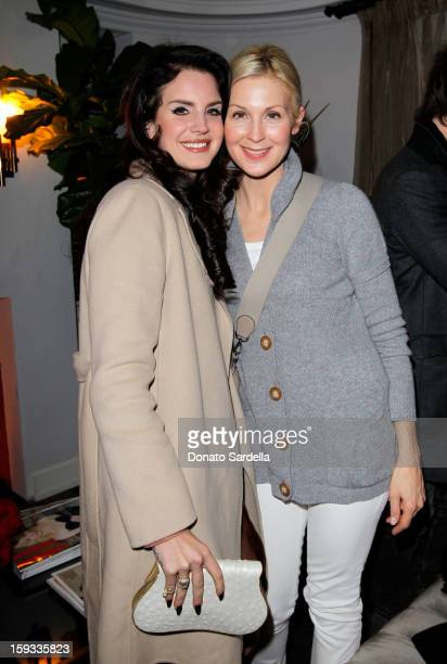 "Singer Lana Del Rey and actress Kelly Rutherford attend W Magazine's 'Best Performances Issue"" and the Golden Globe Awards celebration with W..."