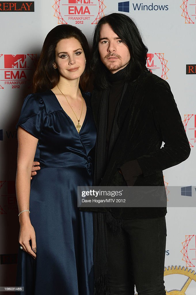 Singer <a gi-track='captionPersonalityLinkClicked' href=/galleries/search?phrase=Lana+Del+Rey&family=editorial&specificpeople=8565478 ng-click='$event.stopPropagation()'>Lana Del Rey</a> and her boyfriend Barrie-James O'Neill attend the MTV EMA's 2012 at Festhalle Frankfurt on November 11, 2012 in Frankfurt am Main, Germany.