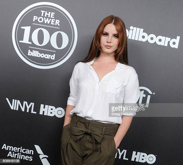 Singer Lana Del Rey arrives at the 2016 Billboard Power 100 Celebration at Bouchon on February 12 2016 in Beverly Hills California