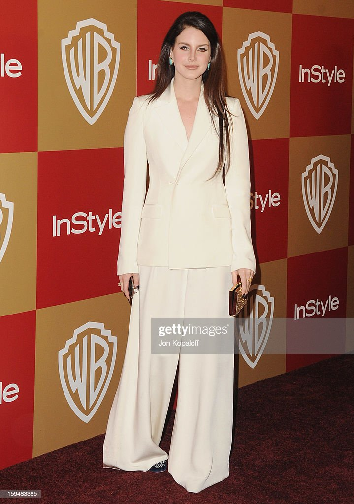 Singer <a gi-track='captionPersonalityLinkClicked' href=/galleries/search?phrase=Lana+Del+Rey&family=editorial&specificpeople=8565478 ng-click='$event.stopPropagation()'>Lana Del Rey</a> arrives at the InStyle And Warner Bros. Golden Globe Party at The Beverly Hilton Hotel on January 13, 2013 in Beverly Hills, California.