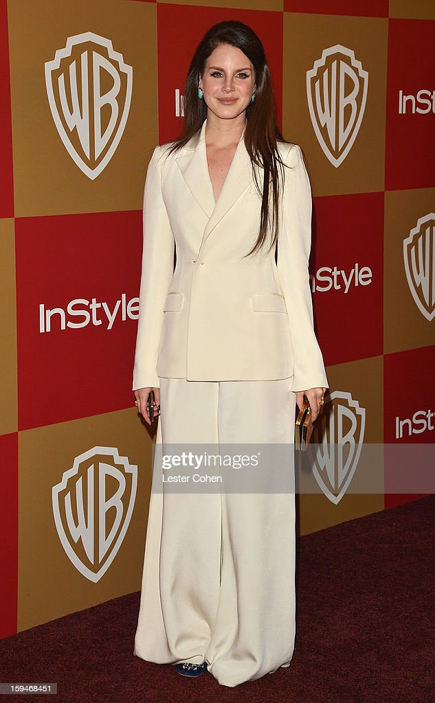 Singer Lana Del Rey attends the 2013 InStyle and Warner Bros. 70th Annual Golden Globe Awards Post-Party held at the Oasis Courtyard in The Beverly Hilton Hotel on January 13, 2013 in Beverly Hills, California.