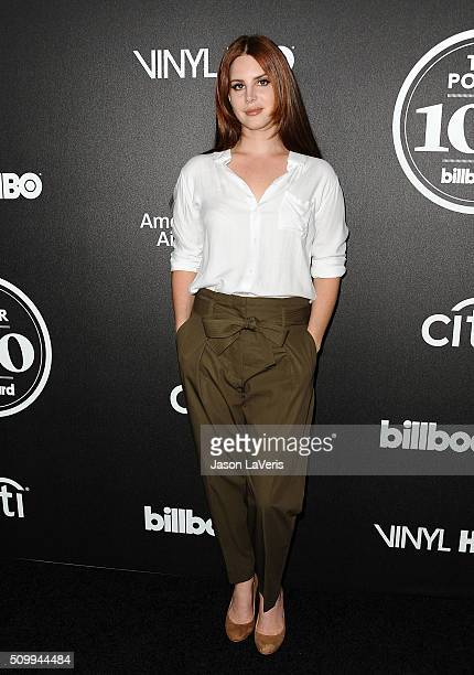 Singer Lana Del Rey attends the 2016 Billboard Power 100 celebration at Bouchon on February 12 2016 in Beverly Hills California