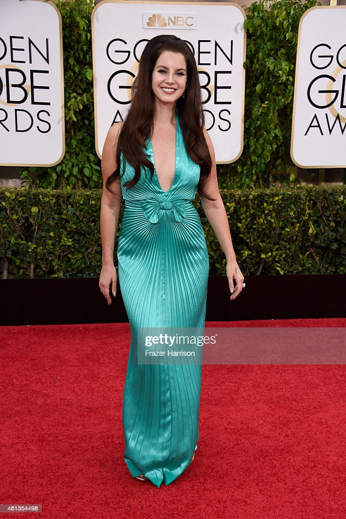 Singer Lana Del Rey attends the 72nd Annual Golden Globe Awards at The Beverly Hilton Hotel on January 11 2015 in Beverly Hills California