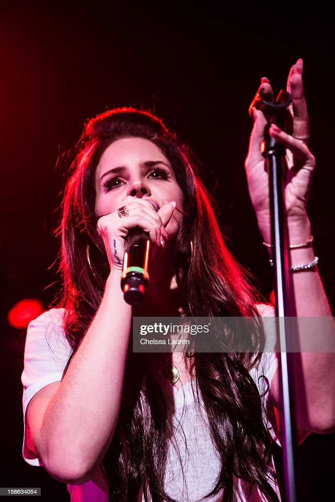 Singer Lana Del Rey performs at Camp Freddy's holiday residency at The Roxy Theatre on December 21, 2012 in West Hollywood, California.