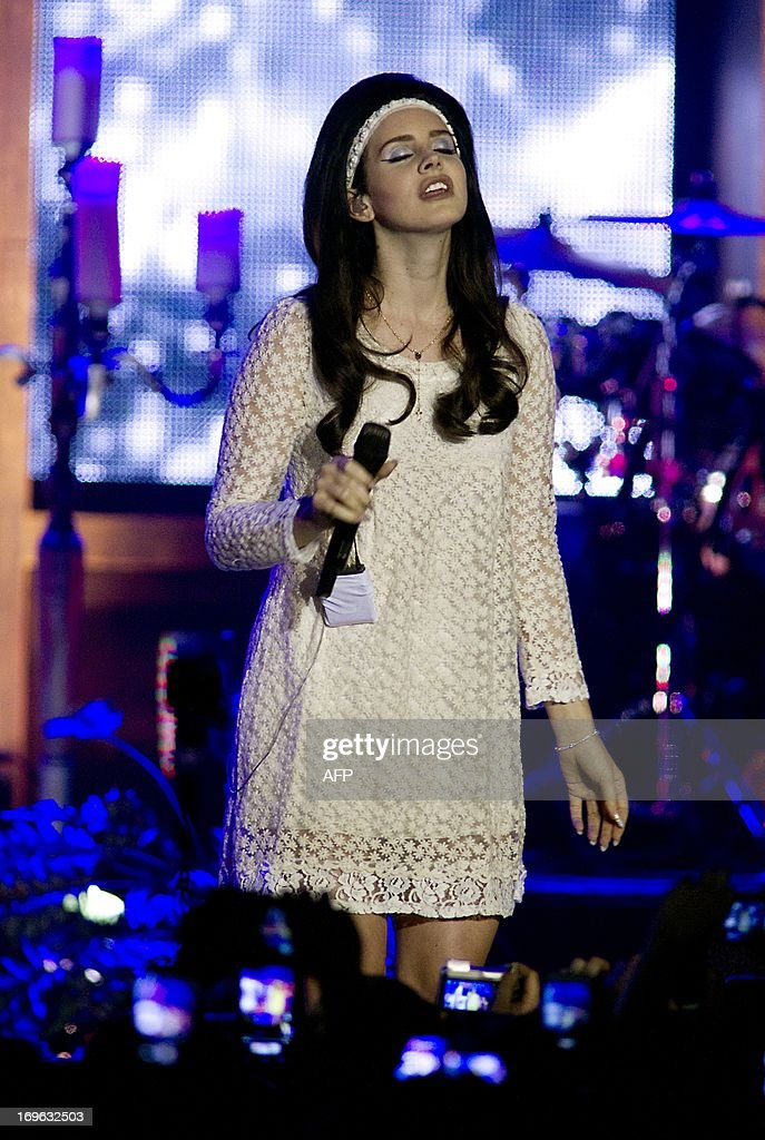 US singer Lana del Rey performs during a concert at the HMH concert hall in Amsterdam, on May 29, 2013.