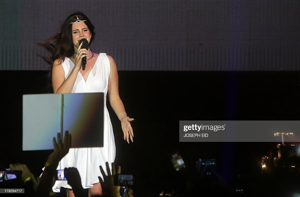US singer Lana Del Rey performs on stage during a concert as part of the Byblos music festival on July 10, 2013 in the coastal city of Byblos, north of Beirut. The festival runs until July 27.