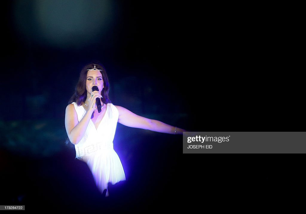 US singer Lana Del Rey performs on stage during a concert as part of the Byblos music festival on July 10, 2013 in the coastal city of Byblos, north of Beirut. The festival runs until July 27. AFP PHOTO/JOSEPH EID