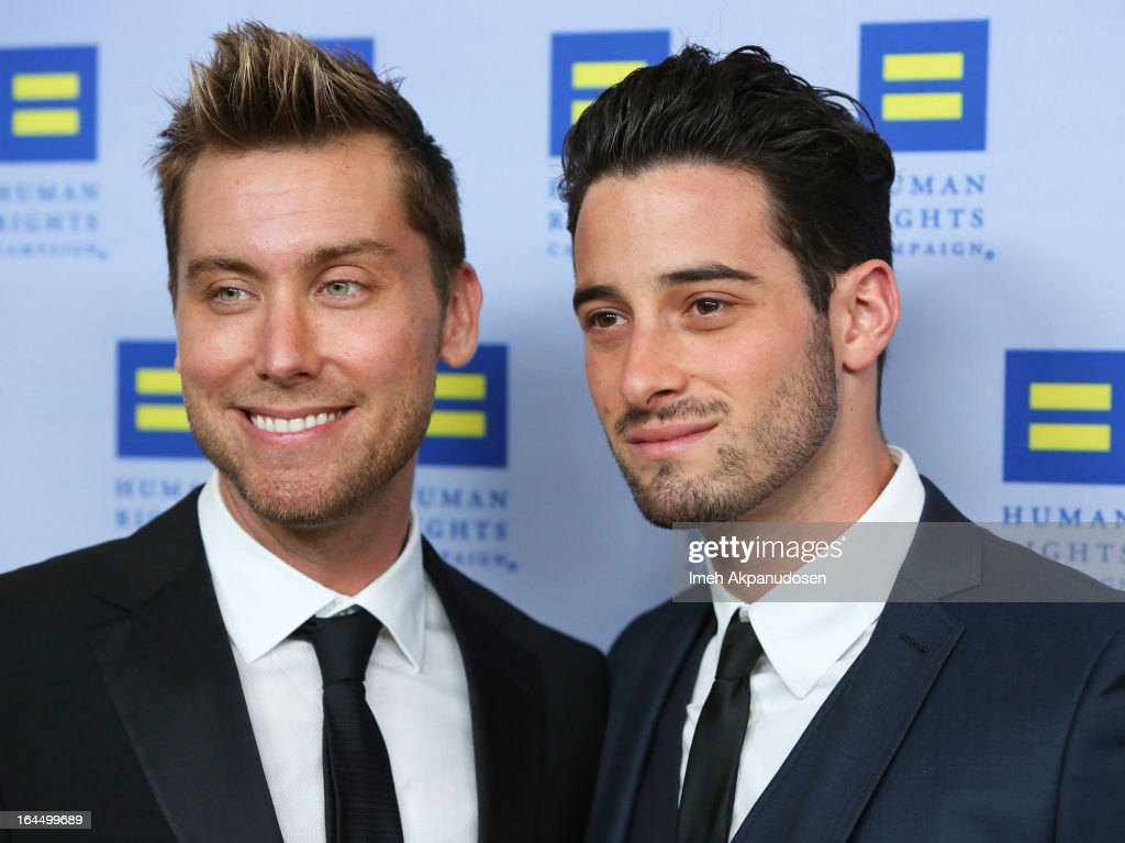 Singer <a gi-track='captionPersonalityLinkClicked' href=/galleries/search?phrase=Lance+Bass&family=editorial&specificpeople=210566 ng-click='$event.stopPropagation()'>Lance Bass</a> (L) and actor <a gi-track='captionPersonalityLinkClicked' href=/galleries/search?phrase=Michael+Turchin&family=editorial&specificpeople=7817442 ng-click='$event.stopPropagation()'>Michael Turchin</a> attend the 2013 Human Rights Campaign Los Angeles Gala at JW Marriott Los Angeles at L.A. LIVE on March 23, 2013 in Los Angeles, California.