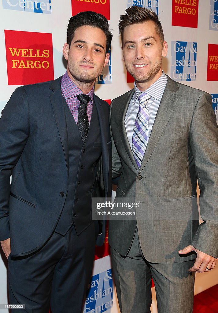 Singer <a gi-track='captionPersonalityLinkClicked' href=/galleries/search?phrase=Lance+Bass&family=editorial&specificpeople=210566 ng-click='$event.stopPropagation()'>Lance Bass</a> (R) and actor Michael Turchin attend the L.A. Gay & Lesbian Center's 42nd Anniversary Vanguard Awards Gala at Westin Bonaventure Hotel on November 9, 2013 in Los Angeles, California.