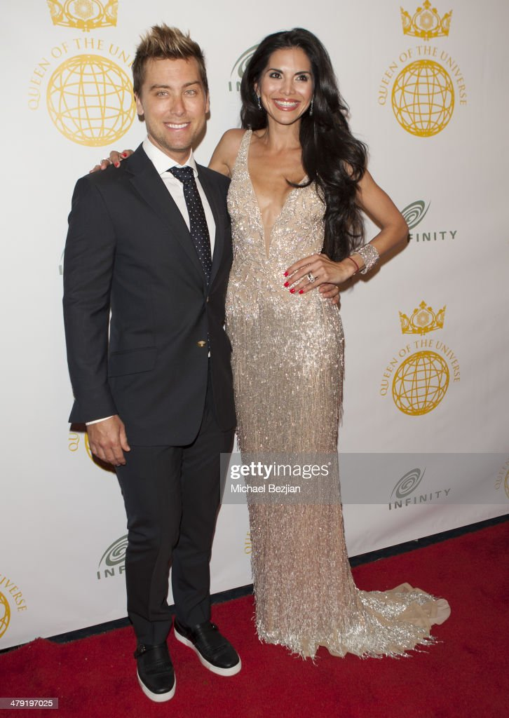 Singer <a gi-track='captionPersonalityLinkClicked' href=/galleries/search?phrase=Lance+Bass&family=editorial&specificpeople=210566 ng-click='$event.stopPropagation()'>Lance Bass</a> and Actress/Model <a gi-track='captionPersonalityLinkClicked' href=/galleries/search?phrase=Joyce+Giraud&family=editorial&specificpeople=841715 ng-click='$event.stopPropagation()'>Joyce Giraud</a> attends Queen Of The Universe International Beauty Pageant at Saban Theatre on March 16, 2014 in Beverly Hills, California.